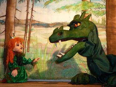 Bild von der Königstochter und dem Drachen